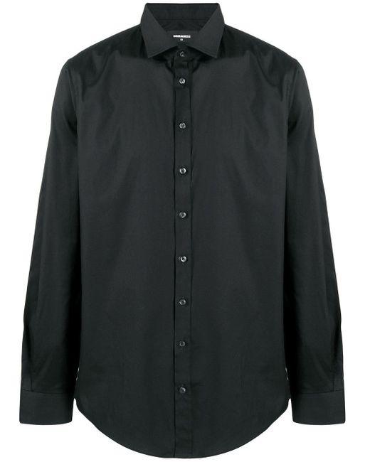 メンズ DSquared² ロングスリーブ シャツ Black
