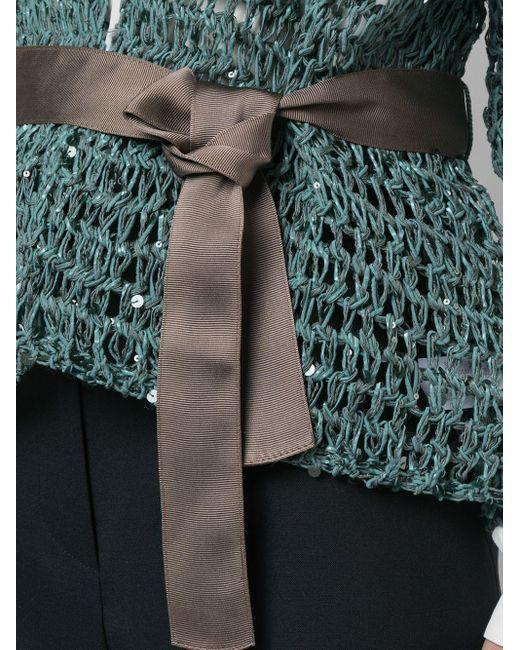Кардиган С Поясом Brunello Cucinelli, цвет: Multicolor