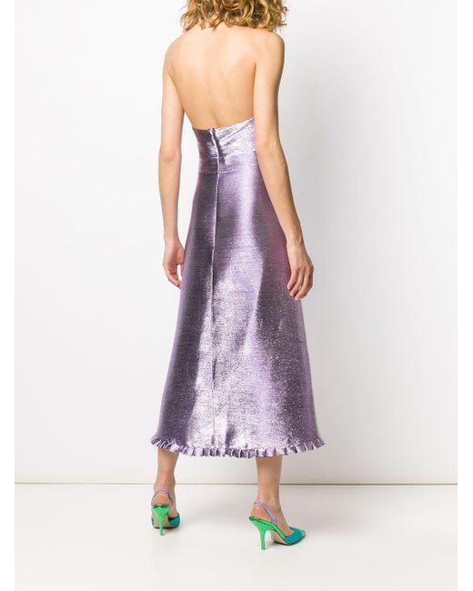 Temperley London メタリック ドレス Purple