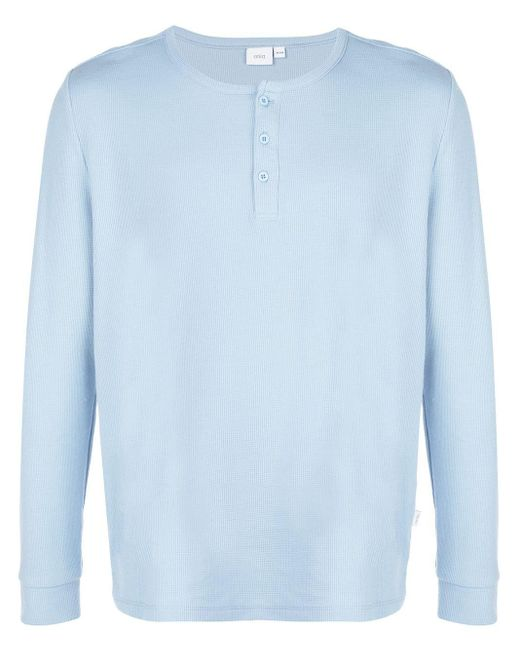 メンズ Onia Miles Waffle Knit Henley セーター Blue