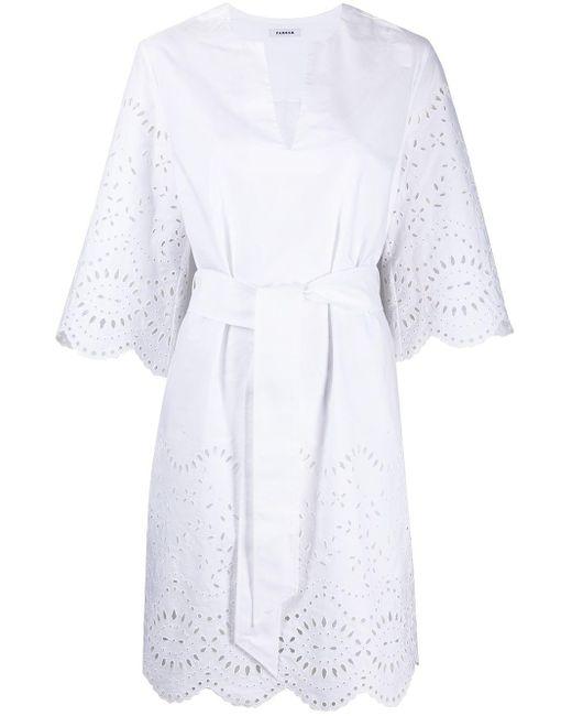 P.A.R.O.S.H. エンブロイダリー ドレス White