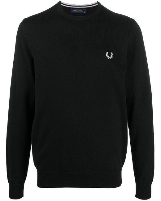メンズ Fred Perry ロゴ スウェットシャツ Black