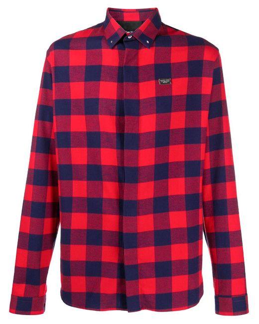 Рубашка С Логотипом Philipp Plein для него, цвет: Red