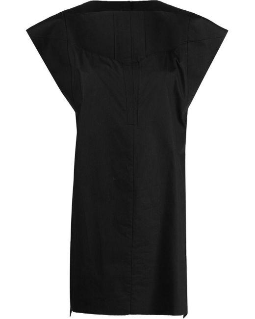 Top oversize smanicato di Rick Owens in Black