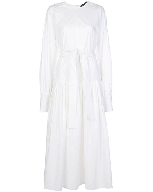 Поплиновое Платье С Поясом Proenza Schouler, цвет: White