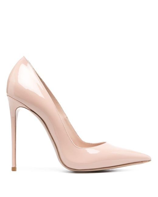 Le Silla Pink Pointed Toe Leather Pumps