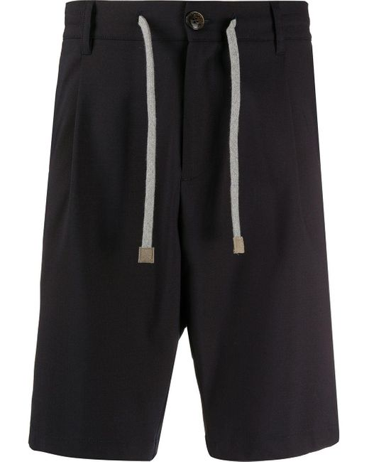 Eleventy Blue Drawstring Bermuda Shorts for men