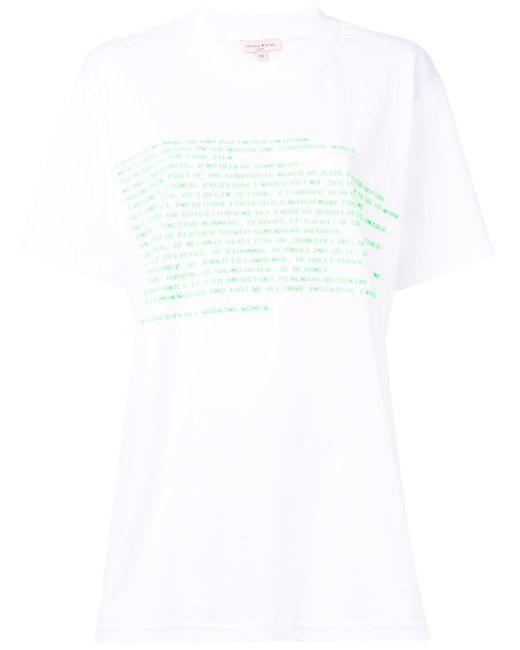 Natasha Zinko オーバーサイズ プリント Tシャツ White