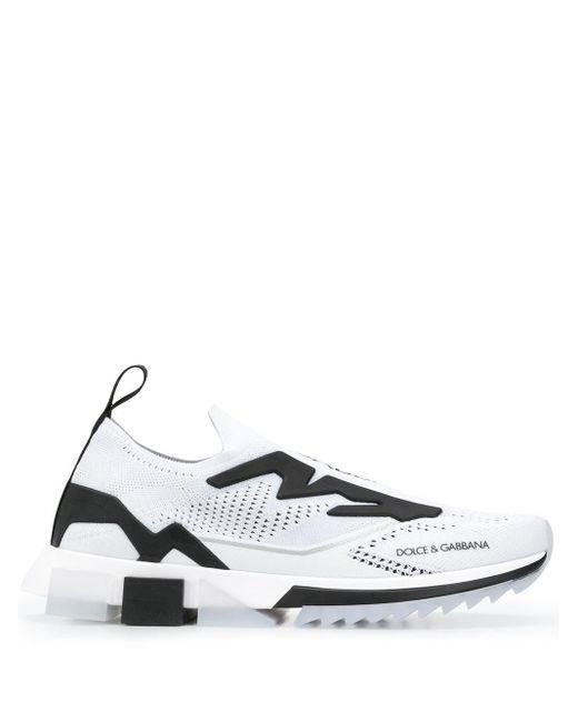 Кроссовки С Логотипом Dolce & Gabbana для него, цвет: White