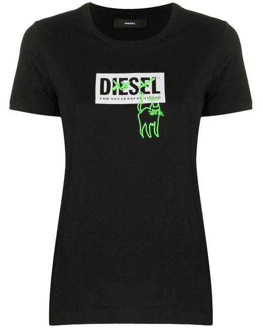 DIESEL ロゴ Tシャツ Black