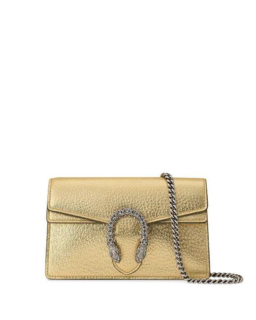 Gucci Multicolor Dionysus Super Mini Tasche aus Pythonleder