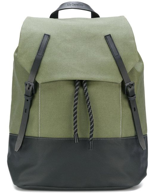 Ally Capellino - Green Drawstring Backpack for Men - Lyst