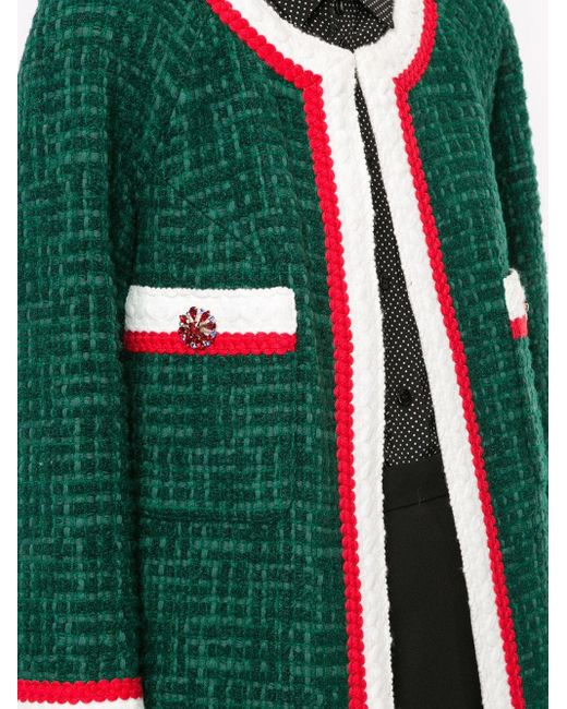 Edward Achour Paris ノーカラー コート Green