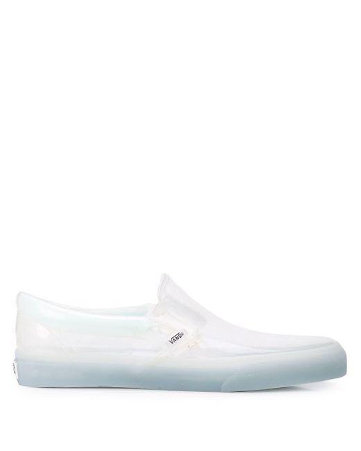 Vans Zapatos estilo slip-on de mujer de color blanco