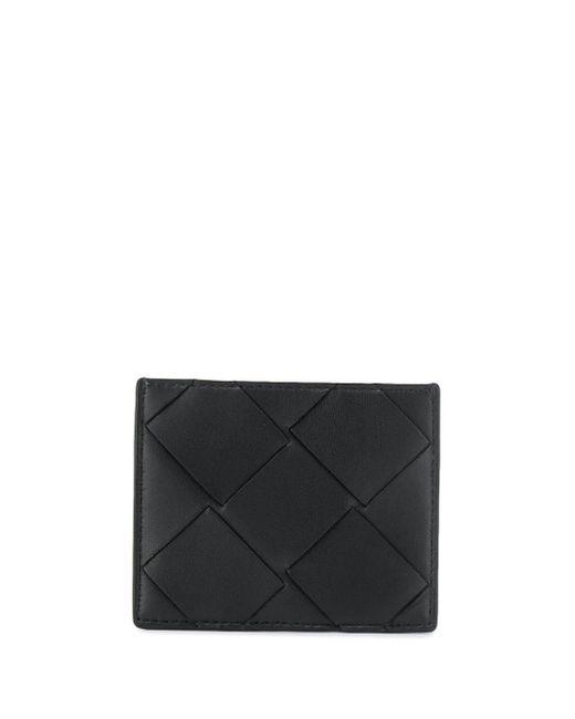 Bottega Veneta ウーブン カードケース Black