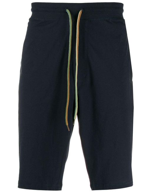 Paul Smith Blue Dropped-crotch Track Shorts for men