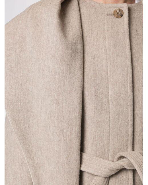 Manteau à détail de cape LE 17 SEPTEMBRE en coloris Brown