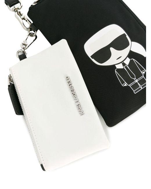 Karl Lagerfeld K/ikonik ポーチ Black
