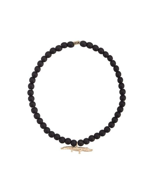 Luis Morais - Black Medium Croc Spacer Bracelet - Lyst
