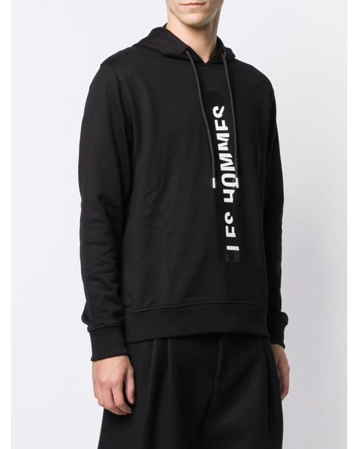 Les Hommes Kapuzenpullover mit Logo in Black für Herren