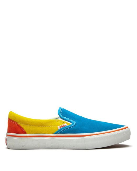 "メンズ Vans Slip-on Pro ""the Simpsons Blue"