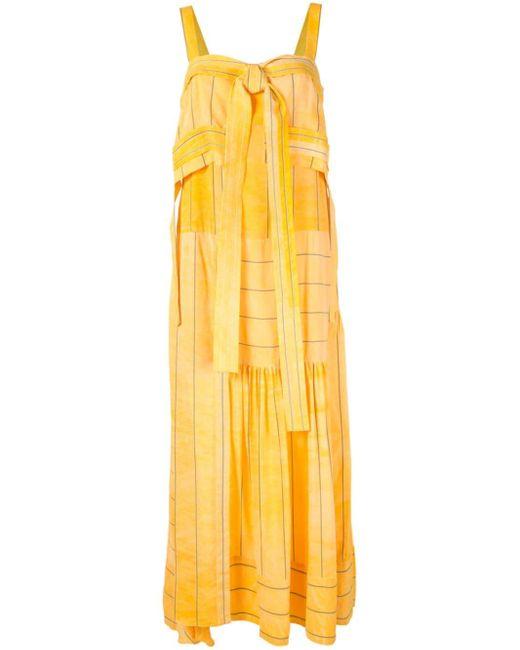 3.1 Phillip Lim ストライプ イブニングドレス Yellow