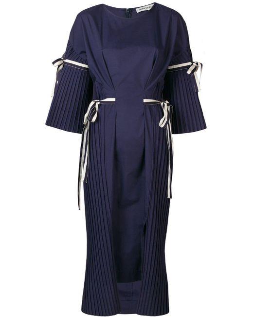 Henrik Vibskov プリーツ ドレス Blue
