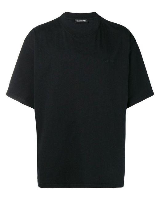 f0b3c643f263 Balenciaga - Black Oversized Short Sleeve T-shirt for Men - Lyst ...