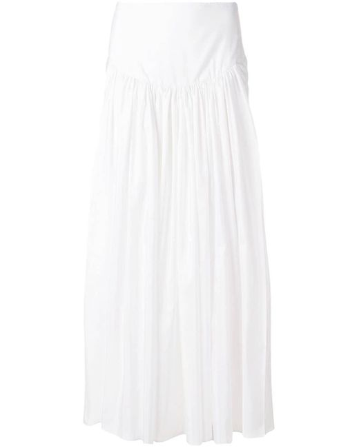 Stella McCartney シャーリング スカート White