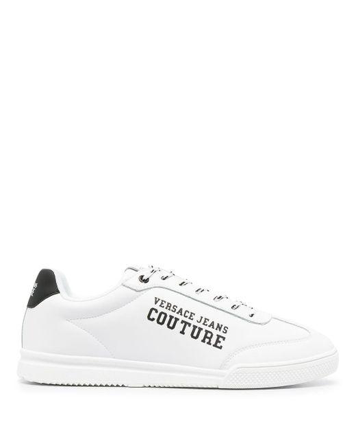 メンズ Versace Jeans ローカット レザースニーカー White