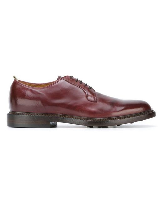 Officine Creative - Red 'stanford' Derby Shoes for Men - Lyst