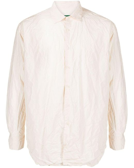 メンズ Casey Casey Raccourcie コットンシャツ White