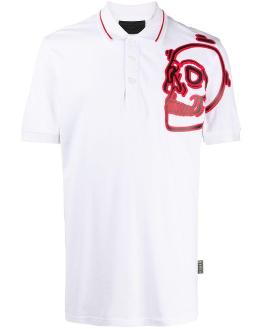 Рубашка Поло С Принтом Philipp Plein для него, цвет: White