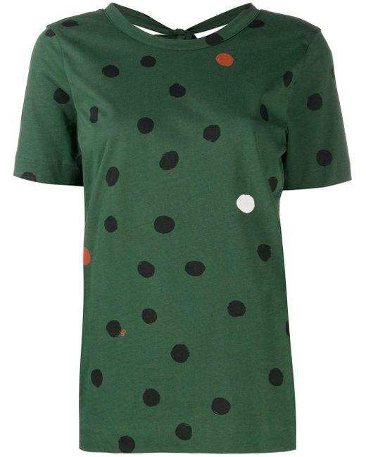 Chinti & Parker ポルカドット Tシャツ Green