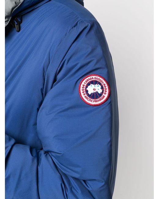 メンズ Canada Goose フーデッド パデッドジャケット Blue