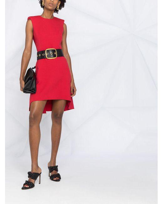 Alexander McQueen ショルダーパッド ドレス Red