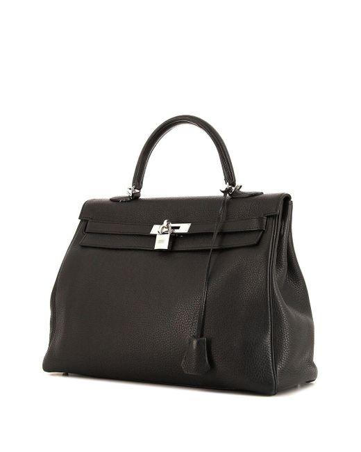 Hermès プレオウンド ケリー 35 ハンドバッグ Black