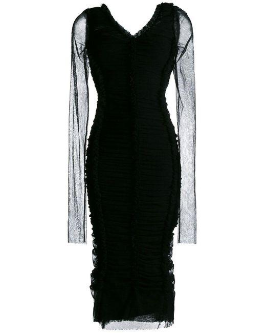 Обтягивающее Платье Со Сборками Dolce & Gabbana, цвет: Black