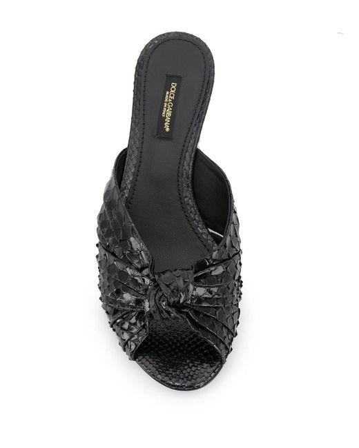 Dolce & Gabbana レザーミュール Black
