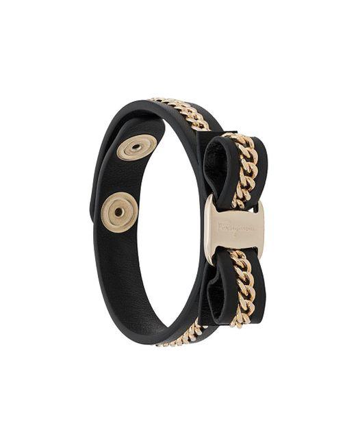 Ferragamo Black Armband mit Vara-Schleife