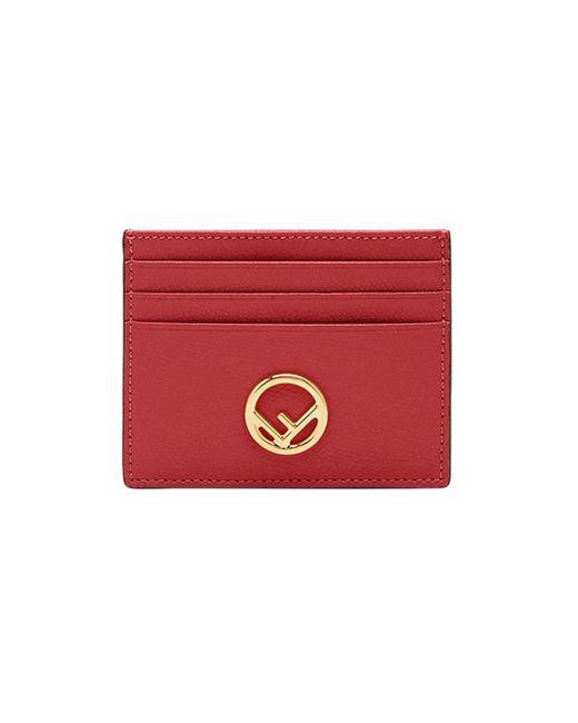 Fendi Red F Is Cardholder