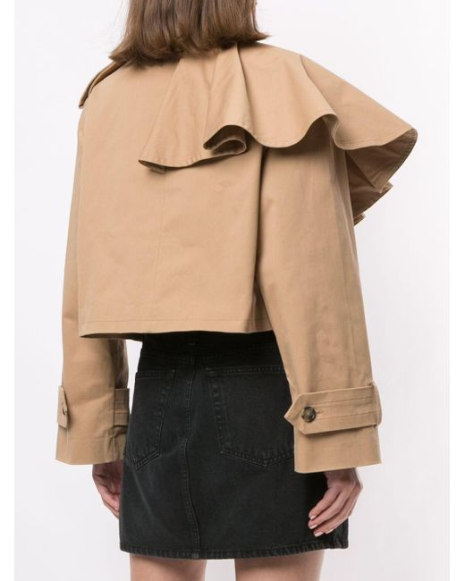MSGM クロップドジャケット Brown