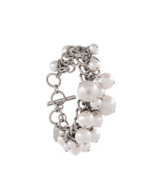 Lanvin | White Pearl-embellished Bracelet | Lyst