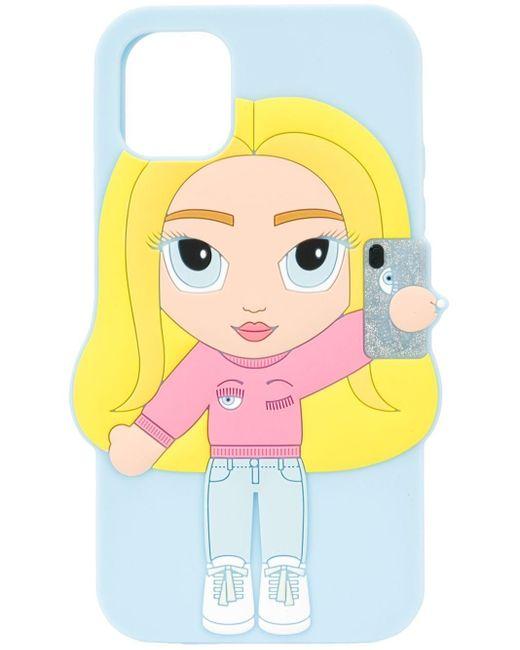 Chiara Ferragni Mascot Iphone 11 ケース Blue