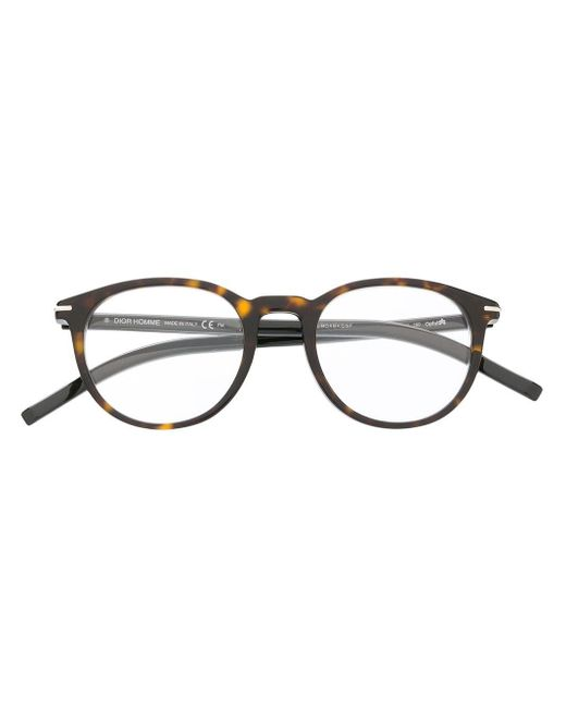 Dior ラウンド眼鏡フレーム Brown