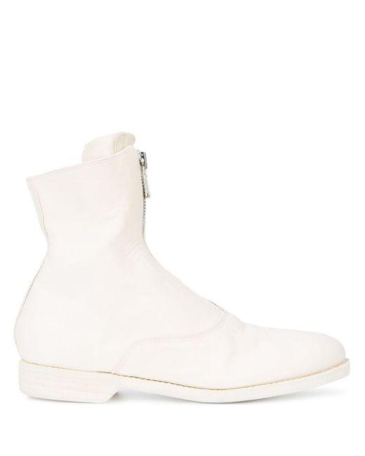 Guidi レザー ブーツ White