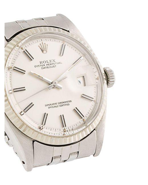 Наручные Часы Oyster Perpetual Datejust Pre-owned 33 Мм Rolex для него, цвет: Metallic