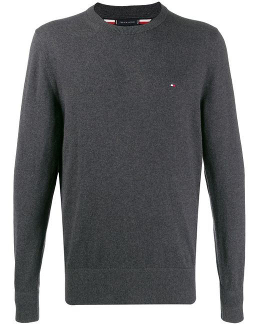 Tommy Hilfiger Gray Relaxed-fit Jumper for men
