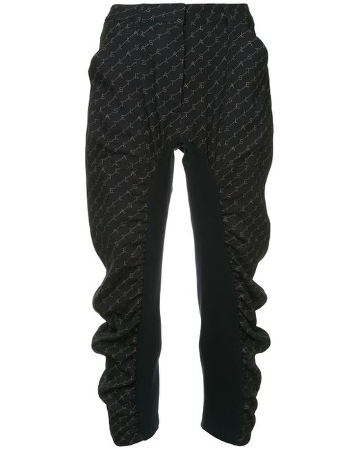 Stella McCartney Black Tina Monogram Trousers