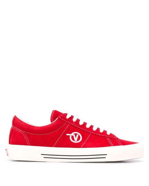 メンズ Vans ロゴ スニーカー Red